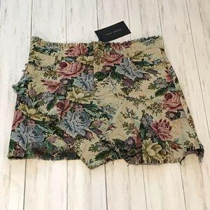Zara Floral Tapestry Mini Skirt